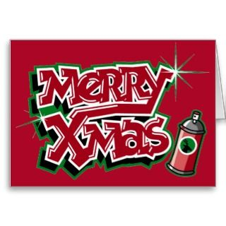 Merry Christmas graffiti card