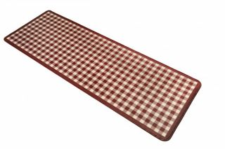 Teppich Läufer / Küchen Läufer Karo lila