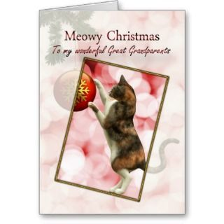 Great grandparents, Meowy Christmas Cards