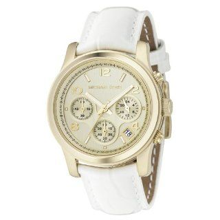 MICHAEL KORS WOMENS STAINLESS STEEL CASE WHITE LEATHER UHR MK5133