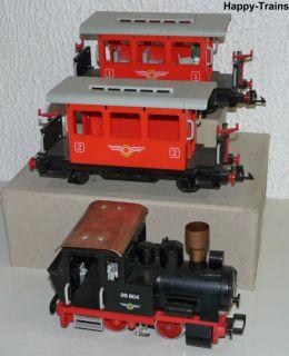 Playmobil 4001 Dampflok 99 804 2 Personenwagen auch fuer LGB geeignet