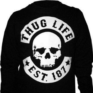 Thug Life   Skull Sweater schwarz