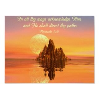 Proverbs 35 6 Christian Bible Verse Poster Card