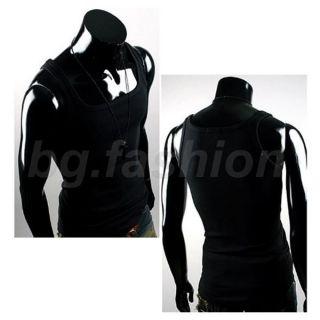 New Mens Tank Vest Tops Singlet Slim Fit Sleeveless Plain T shirt 7