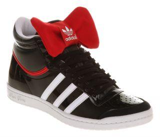 Womens Adidas Top Ten Hi Sleek Black/rd Bow Nite Trainers