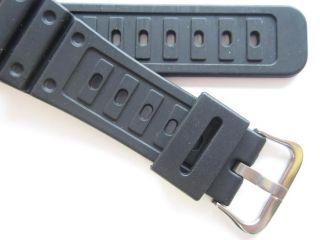 Casio black rubber watch band DW 5000 G shock N.O.S.
