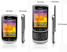 BlackBerry Torch 9810 Smartphone 8GB (8,1 cm (3,2 Zoll) Touchscreen