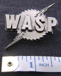 WASP METAL PIN BADGE BLACKIE IRON MAIDEN LA GUNS QUIET RIOT SKID ROW