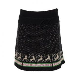 King Louie Strick Rock PATCH SKIRT RUDOLPH black