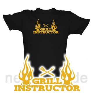 GRILL INSTRUCTOR FLAMES T Shirt GRILLEN BARBECUE S XXXL