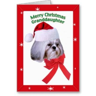Goddaughters Shih Tzu Dog Christmas Card