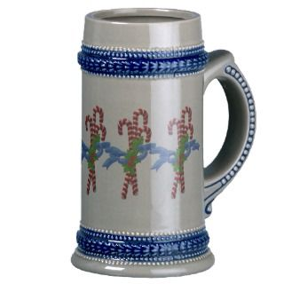 Candy Cane Christmas Stein Mugs