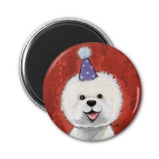 Bichon Frise Party Dog Magnet