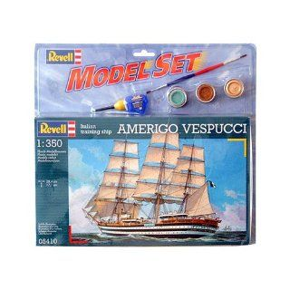 Segelschiff Amerigo Vespucci, 1350, Modellbausatz inkl. Farben