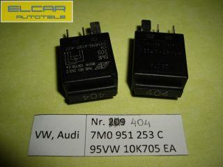 Relais Nr.404 Schwarz VW Sharan SEAT Alhambra FORD 7M0951253C