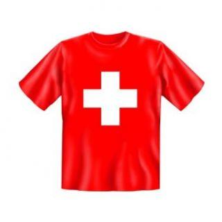 Shirt mit Motiv/Spruch Schweizer Kreuz Bekleidung