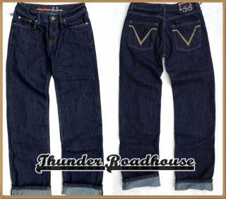 King Kerosin RoadQueen Damen Old School Jeans Denim 5 Pocket