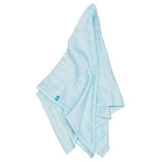 Wallaboo Swaddle Wrap Spucktuch Lightweight Cotton Blue