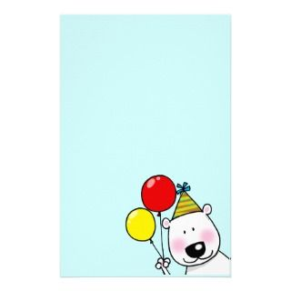 Happy birthday party stationery paper