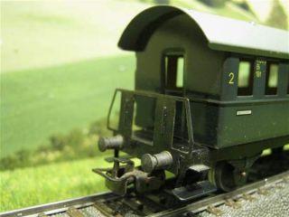 Märklin 4000 H0 Personenwagen/Donnerbüchse 2 Kl. OVP 2 Stück / E137