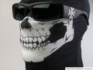 Skull Tube Schlauchtuch Schal Totenkopf Biker Face Mask Rocker Bandana