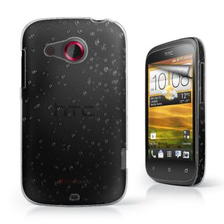 3D RAIN DROP DESIGN HARD CASE COVER For HTC Desire C + Film