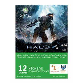 Xbox 360   Live Gold 12 + 1 Monate   im Design von Halo 4