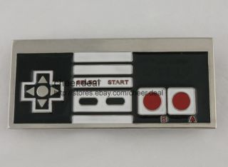 80s Video Game Pad Controler Retro Mens Metal Belt Buckle Boucle De