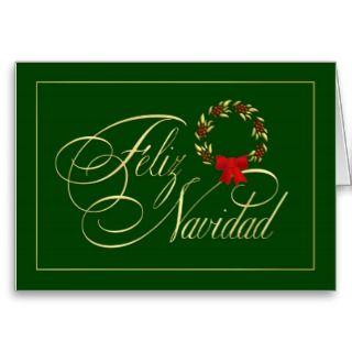 Feliz Navidad   Spanish tarjetas   Holiday Cards
