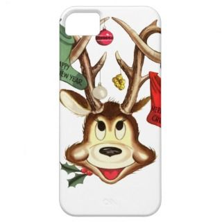 Christmas Stockings and Deer Antlers iPhone 5 Cases