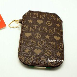 Hello Kitty Handytasche iPhone 4 3G Tasche Case Etui Braun Nieten