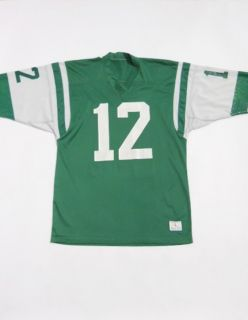 Vintage 70s CHAMPION Game Used NEW YORK JETS Mesh JOE NAMATH Jersey L