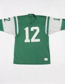 Vintage 70s CHAMPION Game Used NEW YORK JETS Mesh JOE NAMATH Jersey L