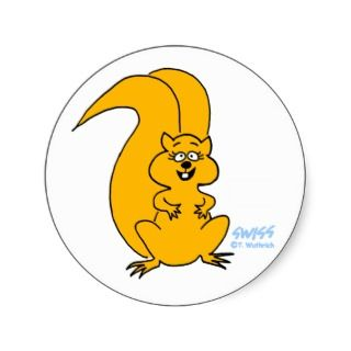 Cute Squirrel Lovers Squirrel Cartoon Stickers by Swisstoons