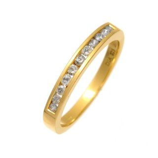 Damen Ring 9 Karat (375) Gelbgold Gr. 47 (15.0) 7 Diamanten PR2321RU V
