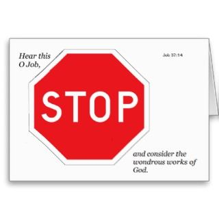 Stop Sign Devotional Greeting Card