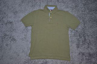 TOMMY HILFIGER PoloShirt Polo Shirt Khaki GR S #441