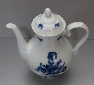 Schumann Bavaria Echt Kobalt Kaffeekanne blaue Rose