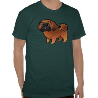 Cartoon Shih Tzu (red puppy cut) t shirts by SugarVsSpice