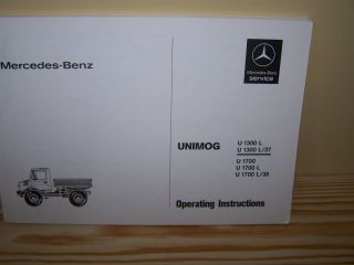 Unimog 435 U1300L U1700L Instruction Manual   NEW