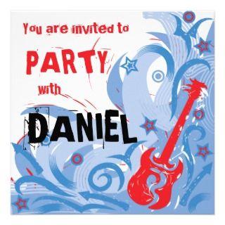 Blanco de la invitación del fiesta de la guitarra de