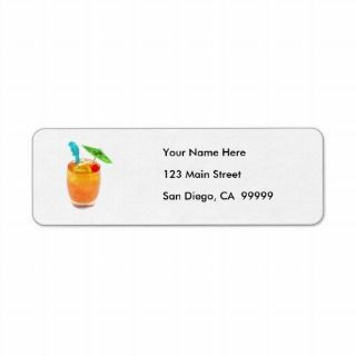 Mai Tai One On Return Address Labels