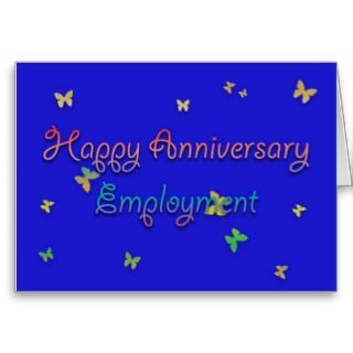 Happy Anniversary Employment Greeting Card