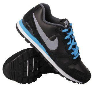Nike Air Waffle Trainer Leather Schuh Schwarz Blau Schuhe