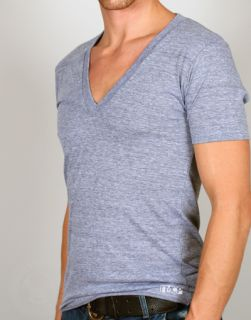 TR456 American Apparel Tri Blend DEEP V Neck T Shirt