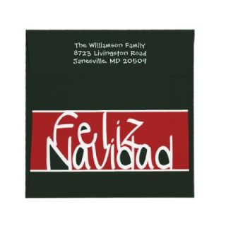 Feliz Navidad Custom Holiday Photo Square Card Personalized Invites