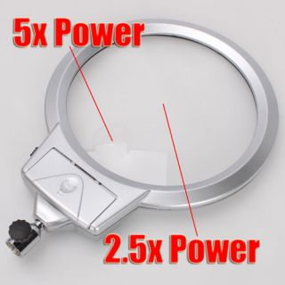LIGHTED TABLE TOP DESK MAGNIFIER MAGNIFYING GLASS WITH CLAMP