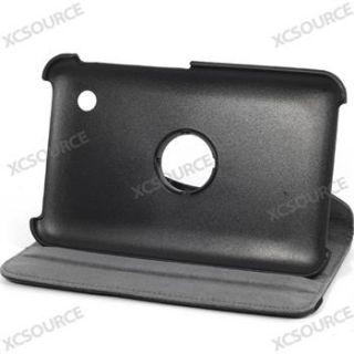 PU Leder Tasche Cover Stehen Black für Samsung Galaxy Tab 2 7.0