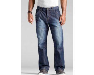 JEANS STRAIGHT LEG DARK BLUE USED 5 Pocket Größe 48 50 52 54 56 58