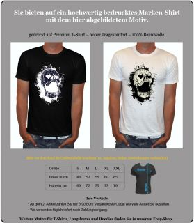Roxx Death Totenkopf Rockabilly Skull Biker T Shirt